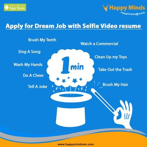 text resume is a pass now the trend is selfie video resume
