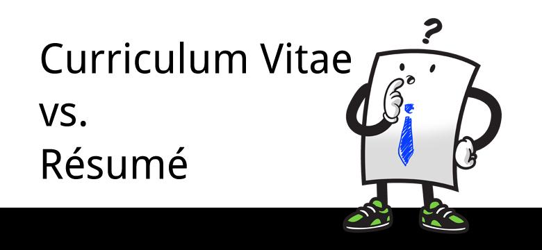 resume v s curriculum vitae cv