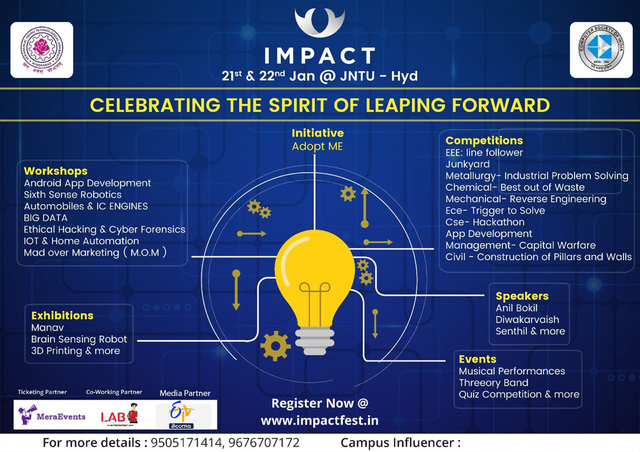 Impact Fest 2k17 is Happening on 21st and 22nd JAN @JNTUH