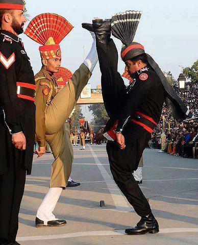 Watching Wagah Border Ceremony at India Pakistan Border